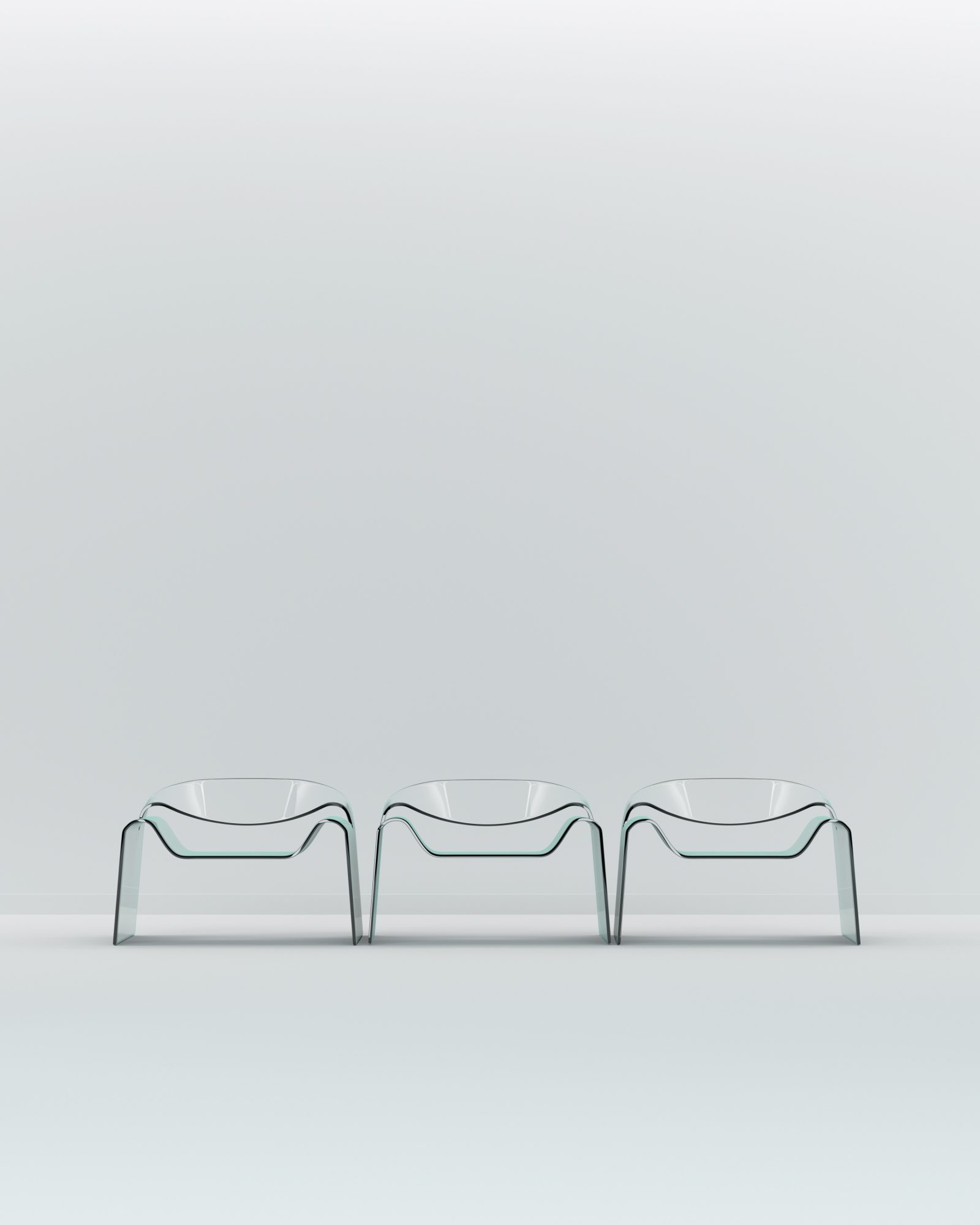 Glass Chair 3D Render